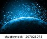 best internet concept of global ... | Shutterstock . vector #207028075