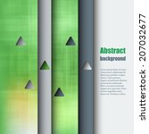brochure template with abstract ... | Shutterstock .eps vector #207032677