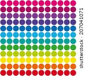 Dots Pattern Rainbow Colors