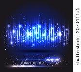 light wave or equalizer.... | Shutterstock .eps vector #207041155