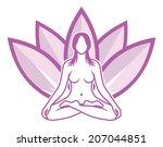 yoga meditation | Shutterstock . vector #207044851