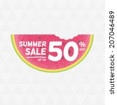 summer sale 50  off. vector... | Shutterstock .eps vector #207046489