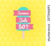 summer sale 50  off. vector... | Shutterstock .eps vector #207046891
