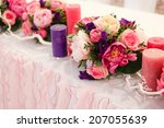 wedding table decoration... | Shutterstock . vector #207055639