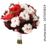 bouquet of cotton pods  red... | Shutterstock . vector #207055819