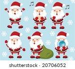 lovely santa claus  vector... | Shutterstock . vector #20706052