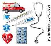 set of medical icons. vector... | Shutterstock .eps vector #207067105