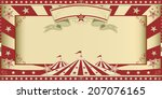 invitation circus show. circus... | Shutterstock .eps vector #207076165