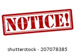 stamp with word notice inside ... | Shutterstock .eps vector #207078385