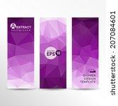 abstract vector geometric... | Shutterstock .eps vector #207084601