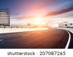 city expressway under the sun | Shutterstock . vector #207087265