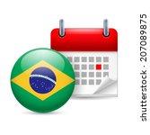 calendar and round brazillian... | Shutterstock .eps vector #207089875