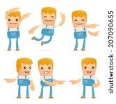 set of mechanic character in... | Shutterstock .eps vector #207090655