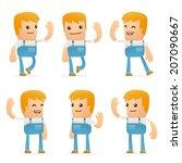 set of mechanic character in...   Shutterstock .eps vector #207090667