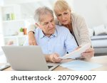 senior couple doing the income... | Shutterstock . vector #207096007