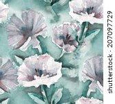 cichorium seamless pattern    Shutterstock . vector #207097729