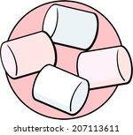 marshmallows   Shutterstock .eps vector #207113611
