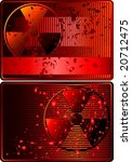 set of cards with radioactive... | Shutterstock .eps vector #20712475