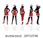 christmas girls | Shutterstock .eps vector #20713738