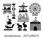 theme park design over white... | Shutterstock .eps vector #207139075