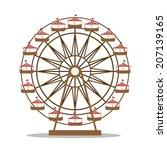 theme park design over white... | Shutterstock .eps vector #207139165