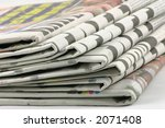 news papers in a pile detail... | Shutterstock . vector #2071408