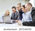 business  technology and office ... | Shutterstock . vector #207144235