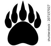 Bear Claw Print