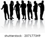 men silhouettes | Shutterstock .eps vector #207177349