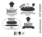 set of retro bakery labels ... | Shutterstock .eps vector #207183085