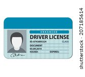 driver license | Shutterstock .eps vector #207185614