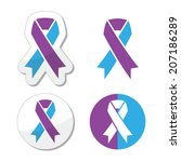 purple and blue ribbon  ... | Shutterstock .eps vector #207186289