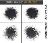 set of vector grunge splashes   Shutterstock .eps vector #207195565