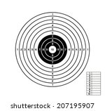 target with black and white... | Shutterstock .eps vector #207195907
