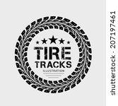 tire tracks. vector... | Shutterstock .eps vector #207197461