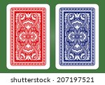 playing card back designs. | Shutterstock .eps vector #207197521