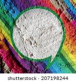 Speech Bubble Pop Art On Cement ...