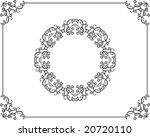 calligraphic border  frame ... | Shutterstock .eps vector #20720110