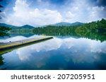 lake santeetlah in great smoky... | Shutterstock . vector #207205951