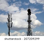 silhouette communicatios tower