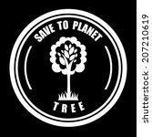 tree design over black...   Shutterstock .eps vector #207210619