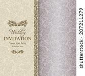 antique baroque wedding... | Shutterstock .eps vector #207211279