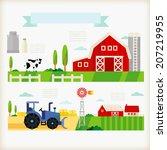 info graphics of farm   Shutterstock .eps vector #207219955