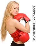 girl with red boxing gloves on... | Shutterstock . vector #20722009