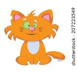 illustration of a smile comic... | Shutterstock .eps vector #207223549