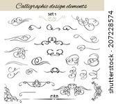 vector set calligraphic vintage ...   Shutterstock .eps vector #207228574
