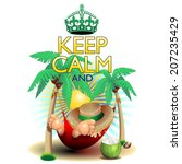 keep calm and...relax on... | Shutterstock .eps vector #207235429