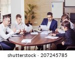 team of five business people... | Shutterstock . vector #207245785