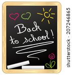 back to school   chalked on... | Shutterstock .eps vector #207246865