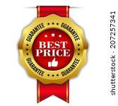 red gold best price badge with... | Shutterstock .eps vector #207257341